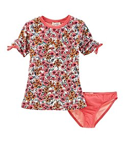 Jessica Simpson Girls' 7-16 Spring Day Rashgard Two Piece Set