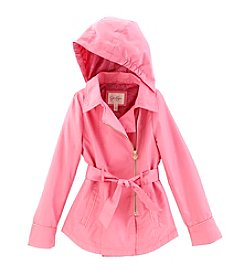 Jessica Simpson Girls' 7-16 Asymmetrical Trench Coat