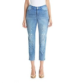 Bandolino® Selene Skinny Crop Embellished Denim Pants