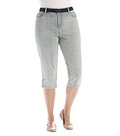 Bandolino® Plus Size Mandie Stripe Capris