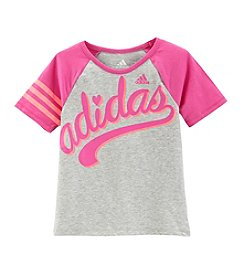 adidas® Girls' 2T-6X Triple Play Raglan Tee