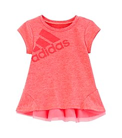 adidas® Girls' 2T-6X Performance Melange Tee