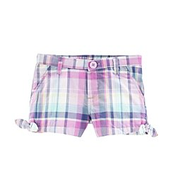 OshKosh B'Gosh® Girls' 2T-4T Plaid Side Tie Shorts