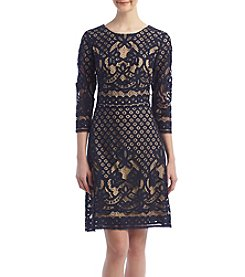 Gabby Skye® Lace Scuba Dress
