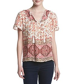 Hippie Laundry Border Peasant Top