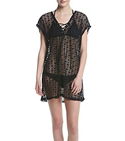 Miken® Lace Up Crochet Coverup