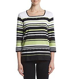 Alfred Dunner® Stripe Tunic Top