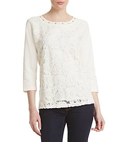 Alfred Dunner® Knit Lace Top