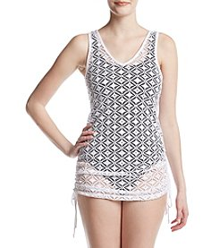 Miken® Juniors' Side Tie Crochet Cover-Up