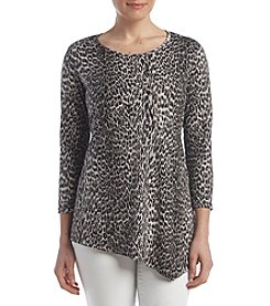 Rafaella® Petites' Mini Animal Print Top