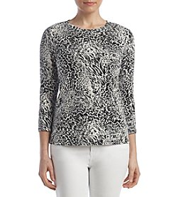 Rafaella® Petites' Animal Print Top