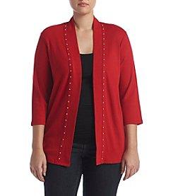 Rafaella® Plus Size Open Front Cardigan