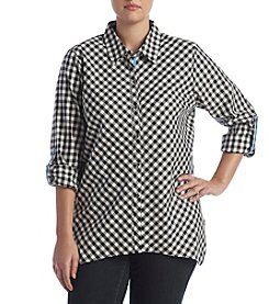 Rafaella® Plus Size Gingham Shirt