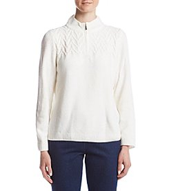 Alfred Dunner® Half Zip Sweater
