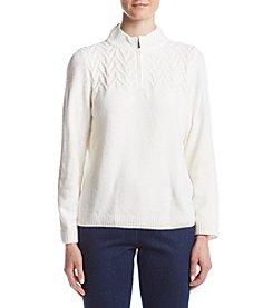 Alfred Dunner® Half Zip Sweater