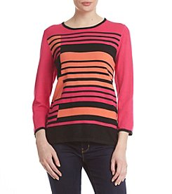 Alfred Dunner® Uneven Stripe Sweater