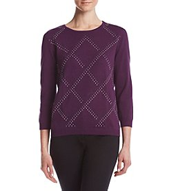 Alfred Dunner® Diamond Sweater