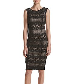Gabby Skye® Lace Off Shoulder Dress