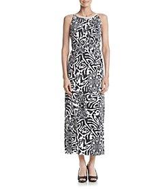 Nina Leonard Printed Maxi Dress