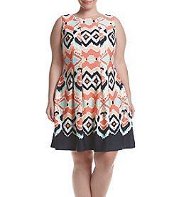 Gabby Skye® Plus Size Printed Scuba Knit Dress
