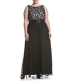 Jessica Howard® Plus Size Lace Top Dress