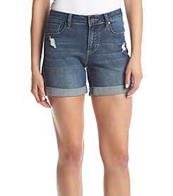 Earl Jean® Roll Cuff Destructed Shorts