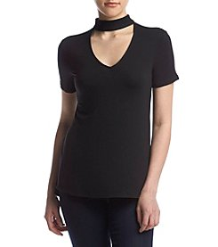 Living Doll® Hi Neck Cutout Tee