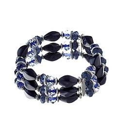 Studio Works® Three Row Beaded Stretch Bracelet