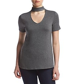 Living Doll® Hi-Neck Cut-Out Tee