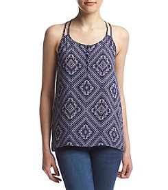 Pink Rose® Diamond Henley Top