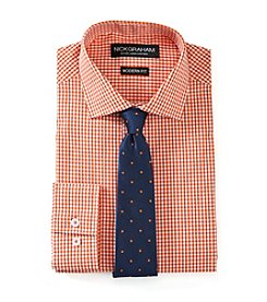 Nick Graham® Men's Gingham Slim Fit Dress Shirt and Tie Set