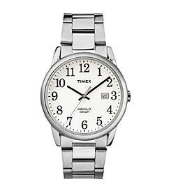Timex® Men's Easy Reader Silvertone Stainless Steel Strap Watch