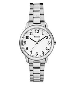 Timex® Women's Easy Reader Silvertone Stainless Steel Strap Watch