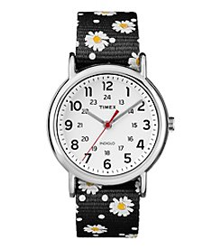 Timex® Women's Weekender Black Nylon Strap Watch