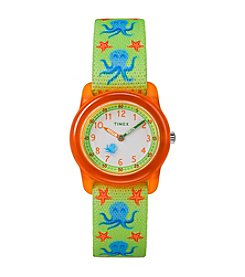 Timex® Kids Elastic Fabric Strap Watch