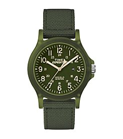 Timex® Expedition Analog Core Green Fabric Strap Watch