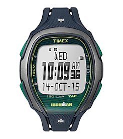 Timex® IRONMAN® Sleek Premium Blue Resin Strap Watch