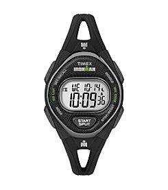 Timex® Women's IRONMAN® Sleek Premium Black Silicone Strap Watch