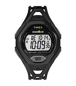 Timex® Men's IRONMAN® Sleek Core Black Resin Strap Watch