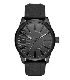 Diesel Men's Rasp Black Silicone Strap Watch