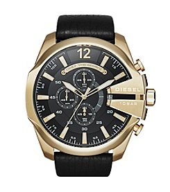 Diesel Men's Mega Chief Leather Strap Watch