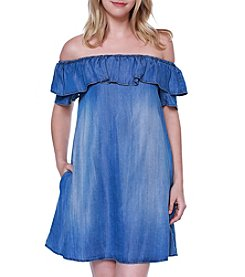 Skylar & Jade™ Off-Shoulder Denim Dress