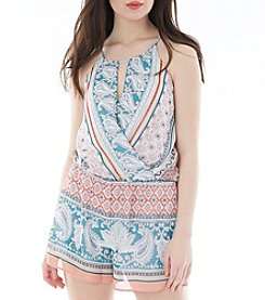 A. Byer Lined Paisley Romper