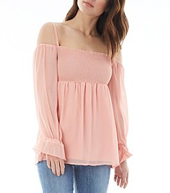 A. Byer Bodice Off-Shoulder Peasant Top