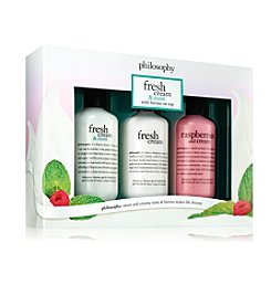 philosophy® Fresh Cream And Mint Shower Gel Trio