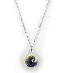 Aspiring Artists of the Earth Wave Focal Necklace
