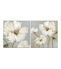 Floral Set Of Two Canvas Wall Art
