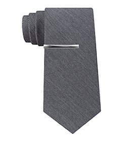 John Bartlett Statements Pepper Solid Skinny Tie