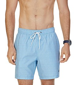 Nautica® Men's Quick Dry Geo Print Swim Trunks