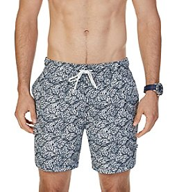 Nautica® Men's Quick Dry Leaf Print Swim Trunks